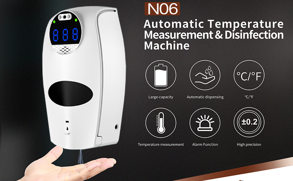 N06 Pro Thermometer Induction Two Max 71% OFF Dispenser Soap in ...