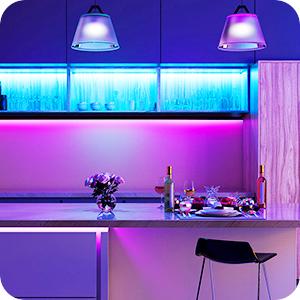 kitchen cabinet led strip light rgb 16 million colored light strip 32.8ft led strip light for home