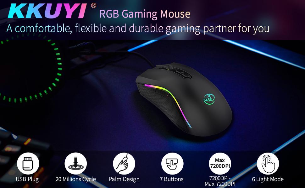 KKUYI RGB Gaming Mouse