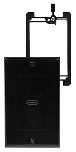 hdmi wall plate black with bracket