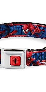 Spiderman Seatbelt Buckle Collar
