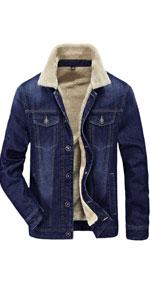 jean jacket with fur men jean jacket with sheep wool inside for men sherpa jean jacket men