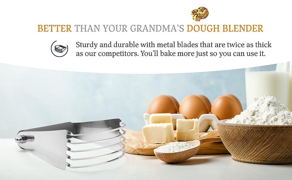 dough blender large 5 five blades thick