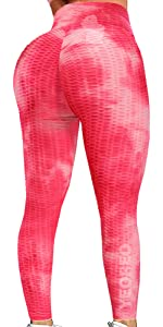 Ruched Butt Lift Leggings High Waist Yoga Pants Textured Scrunch Booty Workout Tights