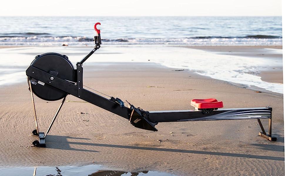 Rower on the beach