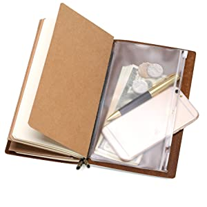 paper refill paper booklet insert lined paper pvc pocket card holder zipper pouch refillable booklet