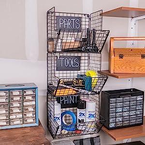 Garage Baskets for Storage Tools