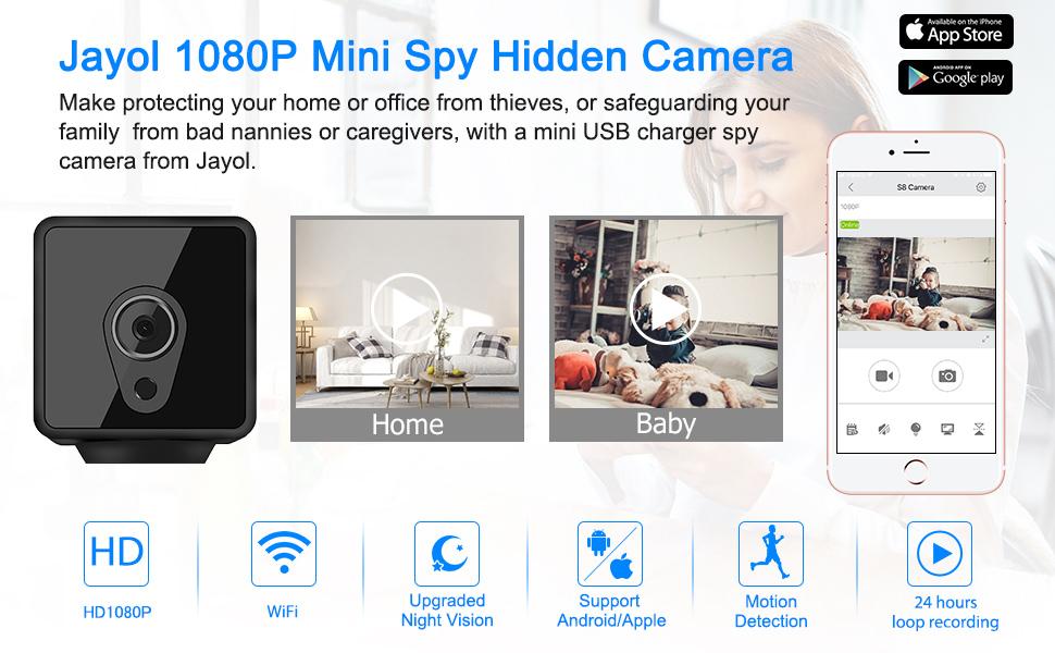 Jayol1080P Mini Spy Hidden Camera WiFi --Why we so proud of Jayol Spy Camera?