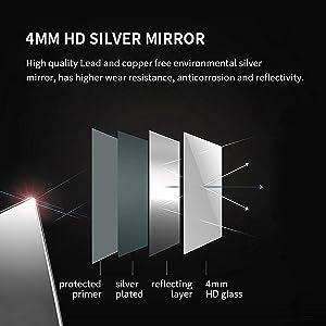 4mm HD silver mirror