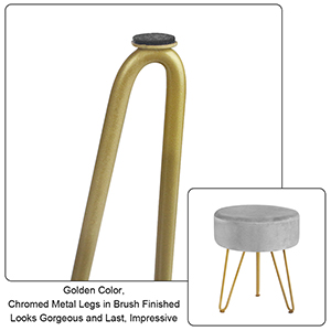 metal leg foot stool ottoman