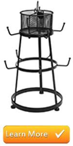 black metal tabletop counter top mug holder hooks rack cups drinkware storage tower