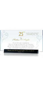 Personalized Religious Gift for 25th Wedding Anniversary for Parents