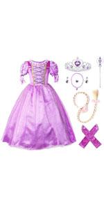 Purple Princess Party Dress
