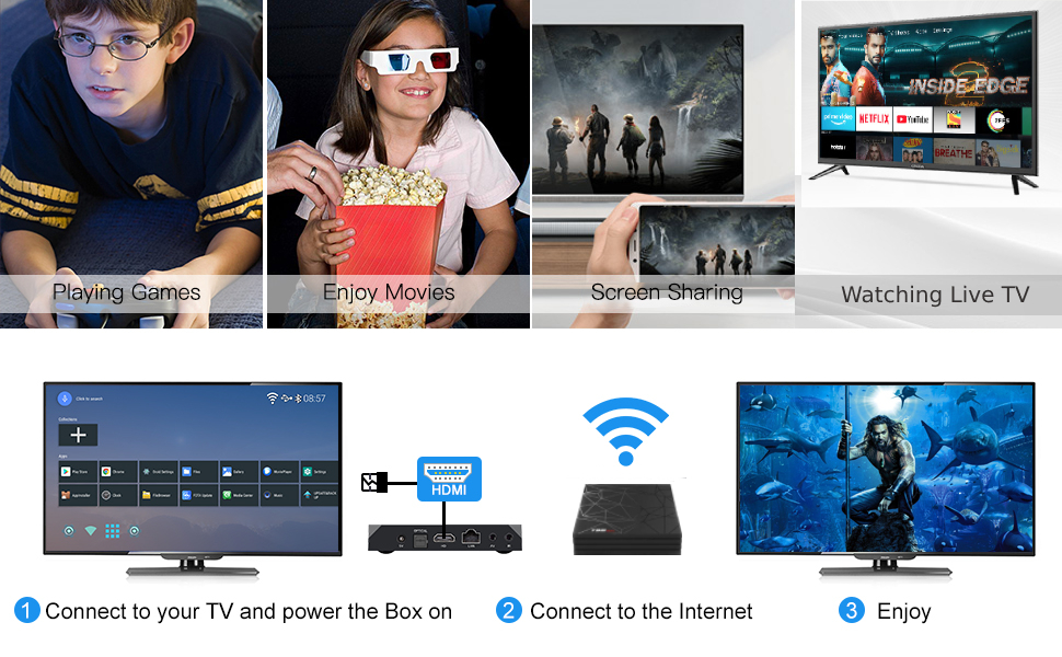 android tv box smart tv box for home