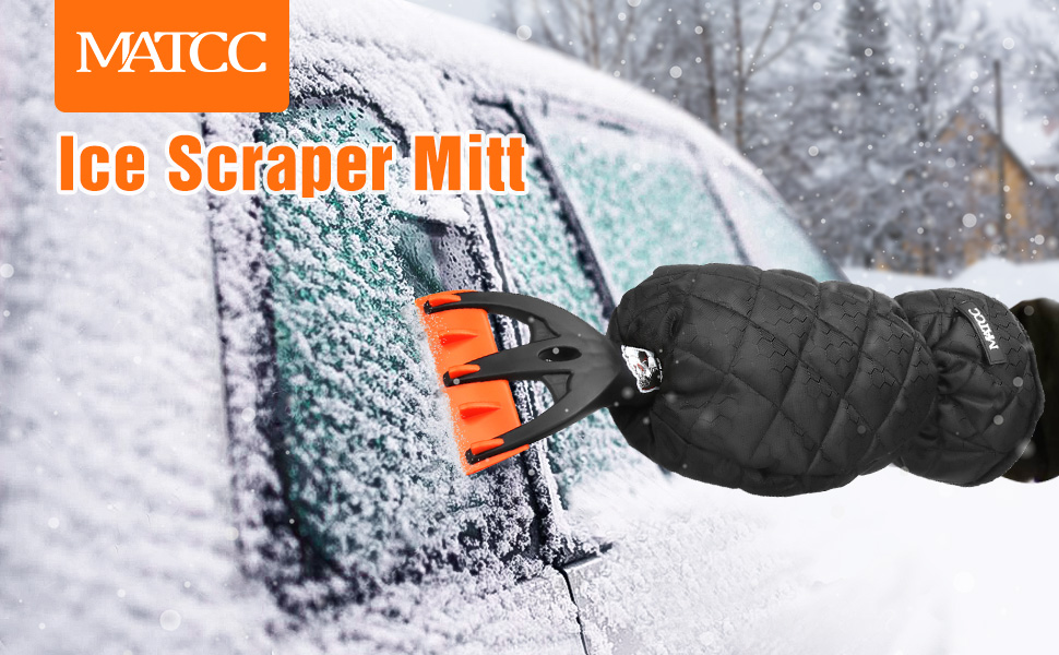 ICE Scraper for Cars and Small Trucks Scratch-Free(1PACK) Car Ice Scraper for Windshield