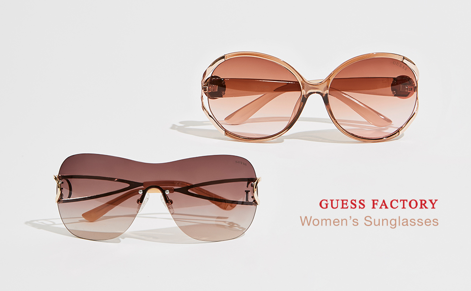 GUESS Factory Women's Logo Aviator Sunglasses