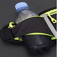 The bottle pouch holds up to 24oz bottles.