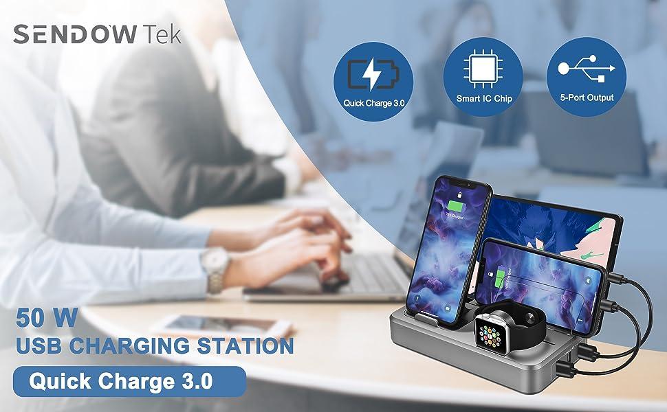 5-port charger station