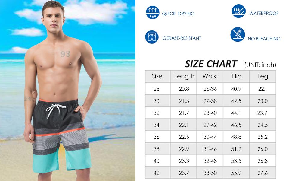 Mens Swim Trunks Coffee Time Fast Dry Ultra-light Ventilation Board Shorts