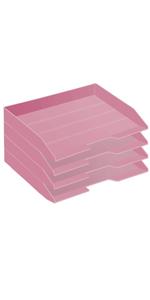 Acrimet Stackable Letter Trau Side Load Solid Pink