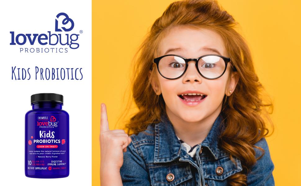 Kids Chewable Probiotic, LoveBug Probiotics