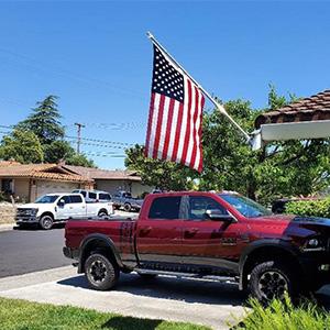 flag pole kit for house