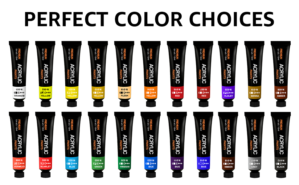 24 vivid color acrylic paint