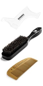 beard shaper, brush, comb