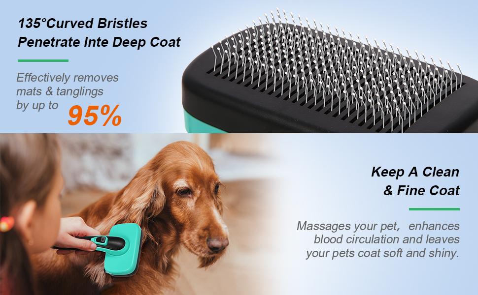 dog brushes for grooming large dogs sifting litter box deshedding brush