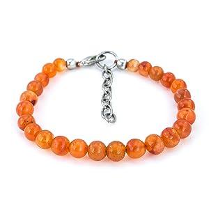 Mystic Self Orange Carnelian Bracelet Fashion Jewelry Gemstone Beaded Crystal Healing Birthstone