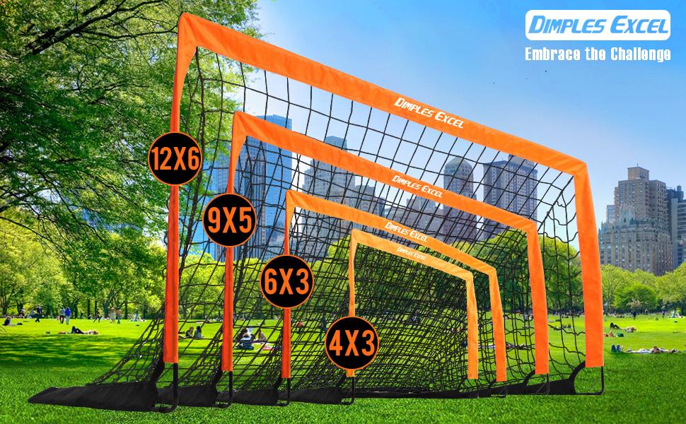 Ball Instant Pop Up Portable Football Soccer Goals Nets Pump /& Pegs Kids Child