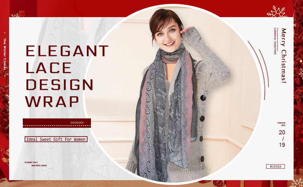 elegant lace scarf holiday gift present