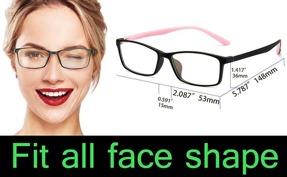 anti blue light blocking glasses computer women kids pink frame screen blocker small face filter uv