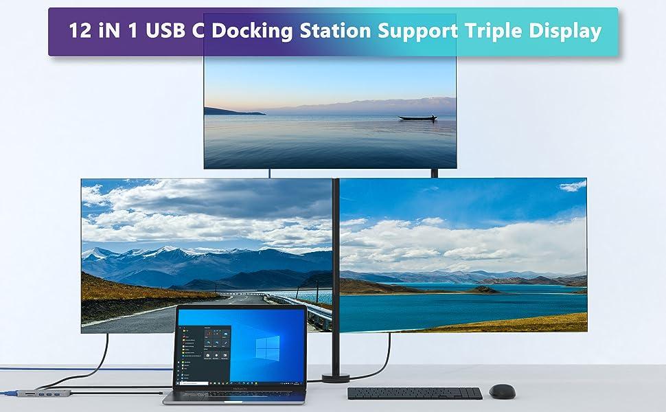 Docking Station Dual Monitor USB C
