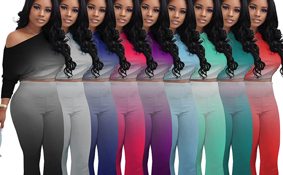 Tie Dye Women 2 Piece Outfits Sets