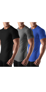 mens 3 pack gym workout shirt