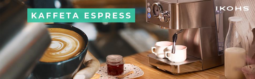 IKOHS Cafetera KAFFETA ESPRESS - Cafetera Espress Semiautomática ...