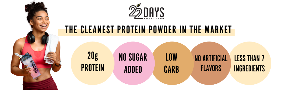 22 Days Nutrition Protein Powders - The Cleanest Protein Powder On The Market