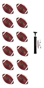 Biggz, Footballs, regulation, rubber, 12 pack