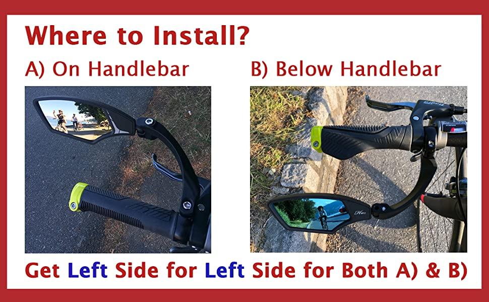 Hafny Handlebar Bike Mirror,Bicycle Mirror,E-bike Mirror, fietsspiegel,Fahrradspiegel,miroir de vélo