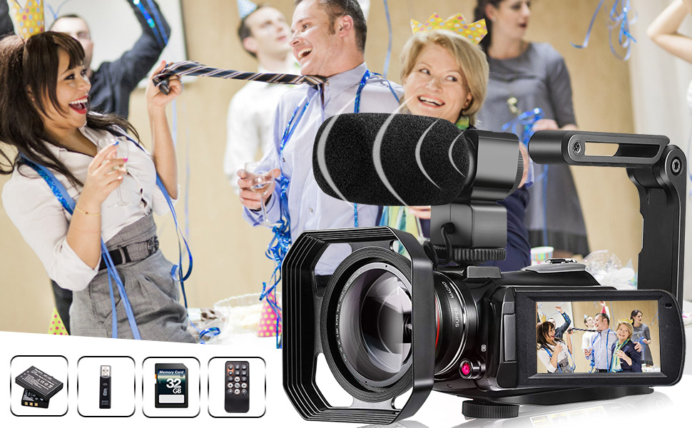 4K camcorder  Video Camera 4K Camcorder ZOHULU Vlog Camera for YouTube, HD Digital Camera with 30X Digital Zoom and Night Vision, Video Recorder with Microphone, Wide Lens (32GB SD Card, 2 Batteries Included) 6c8ca8d0 9be9 436f 97c0 f0e963a89d73