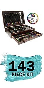 U.S. Art Supply Art Activity Artist Drawing Sketching Watercolor Pencil Set