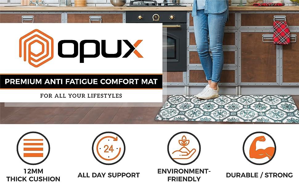 OPUX anti-fatigue kitchen floor mat