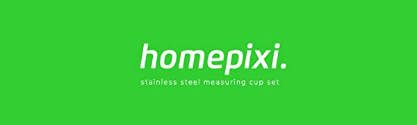 homepixi logo measuring cup set of 6 stainless steel