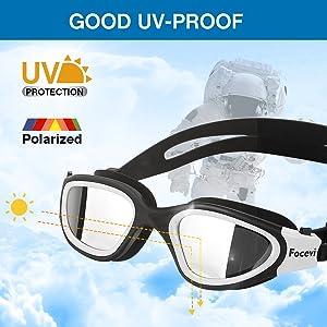 Swimming goggles UV protection