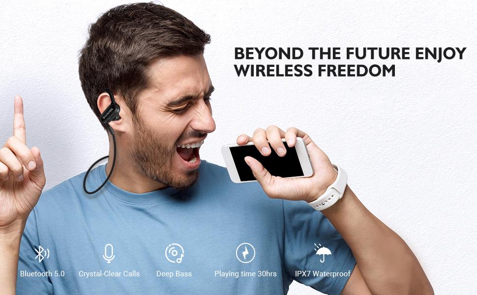 bluetooth wireless earphone ad headphone
