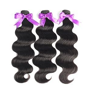 Brazilian Body Wave 3 Bundles Human Hair Extension
