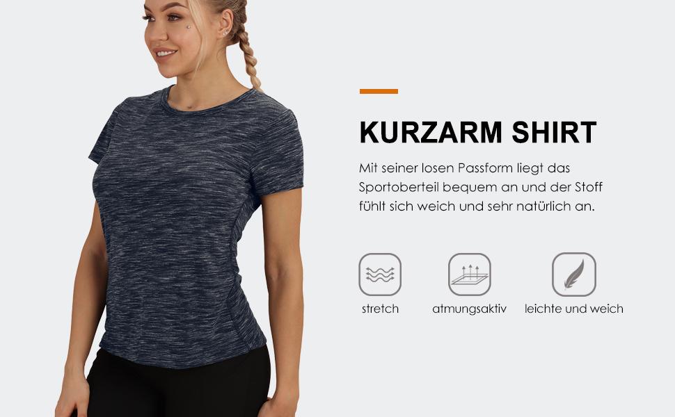 Lange yoga-shirt voor dames