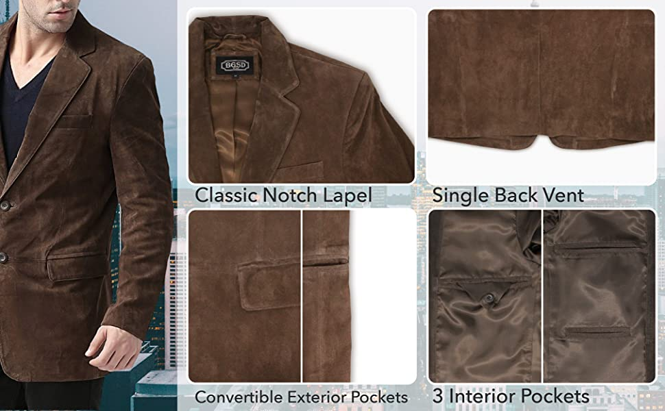 BGSD Men's Leather Features