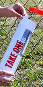 Marketing Holders AD-Tube Outdoor Brochure Flyer Holder